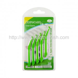 disposable oral care L type interdental brush