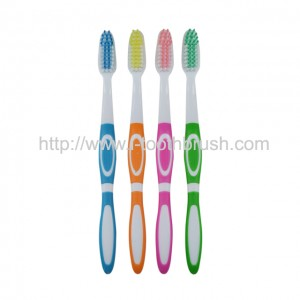 customized color PP handle adult toothbrush free sample