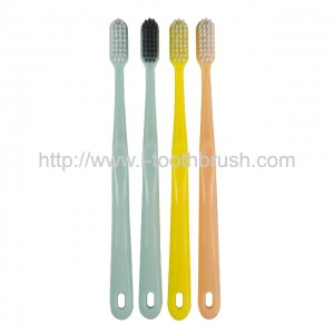 custom color disposable plastic hotel toothbrush set