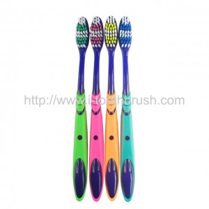 tooth white high quality colorful handle cheap toothbrush