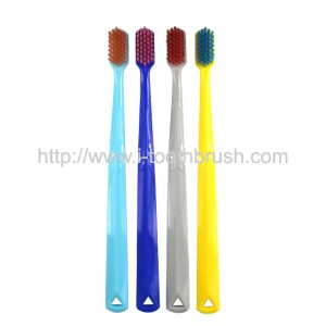 plastic colourful handle nylon toothbrush