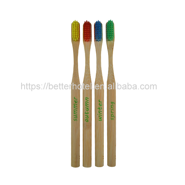 colorful bamboo handle toothbrush with logo Featured Image
