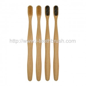 round handle eco bamboo toothbrush