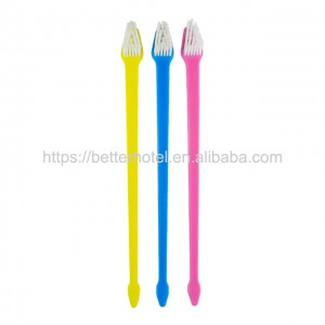 double head pet brush dog and cat toothbrush for wholesale
