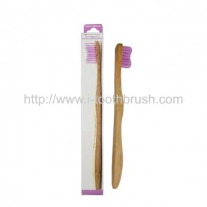 wavy handle adult and kid bamboo toothbrush