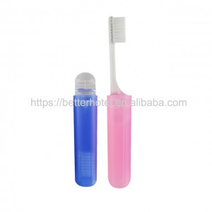china foldable mini toothbrush with soft nylon bristles