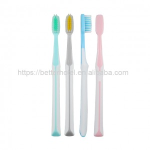 soft rubber handle toothbrush for adult