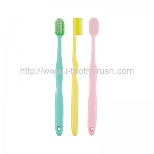 factory supply cheap colorful PP handle soft nylon toothbrush