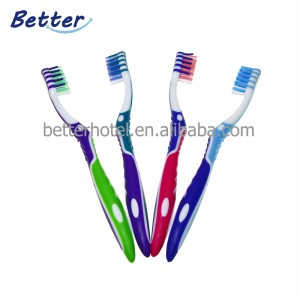 2019 new design adult toothbrush with soft tapered bristle
